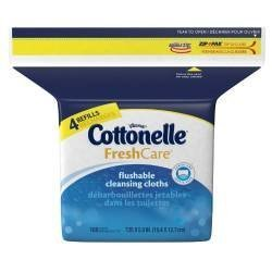 cottonelle-fresh-care-flushable-moist-wipes-refill-168ct-pack-of-2-by-kimberly-clark