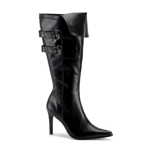 Womens WIDE WIDTH WIDE CALF Sexy Pirate Boot 3 3/4 Inch Black
