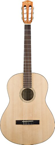 Fender Esc-80 3/4-Size Classical Guitar, Rosewood Fretboard, Gig Bag - Natural