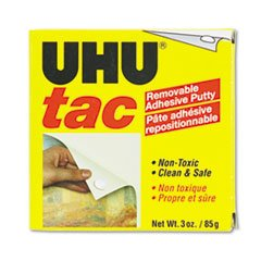 ** Tac Adhesive Putty, Removable/Reusable, Nontoxic, 3 oz Each **
