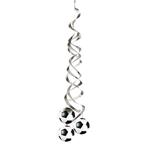 Creative Converting 2 Count Sports Fanatic Soccer Deluxe Danglers, Black/White