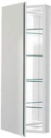 Robern CB-PLM1640WB  Pl-Series Flat Bevel Mirror Medicine Cabinet, White