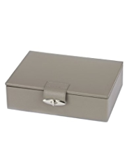 M&S Collection Leather Twistlock Jewellery Box