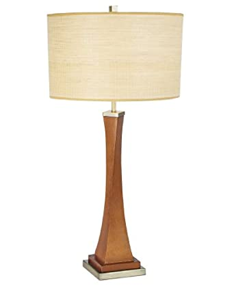 Madison Ave Table Lamp in Walnut