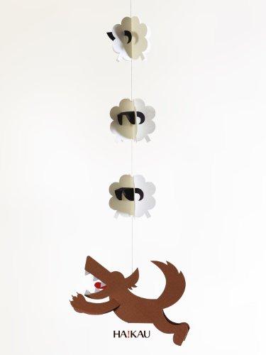 【ペパモ】 ペーパー モビール キット キュートな ペーパークラフト オオカミ