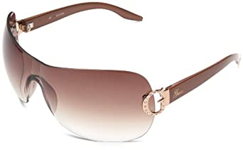 GUESS Women's 6392 Oversized Sunglasses,Brown Frame/Gradient Dark Brown Lens,one size