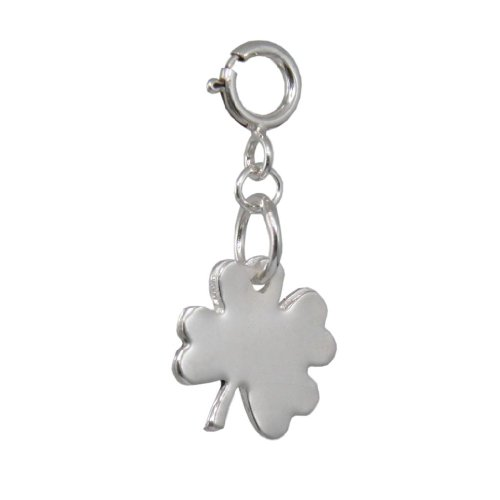 Handmade Designer 925 Sterling Silver 4 Leaf Clover Charm - FREE Delivery in UK Gift Wrapped Gifts