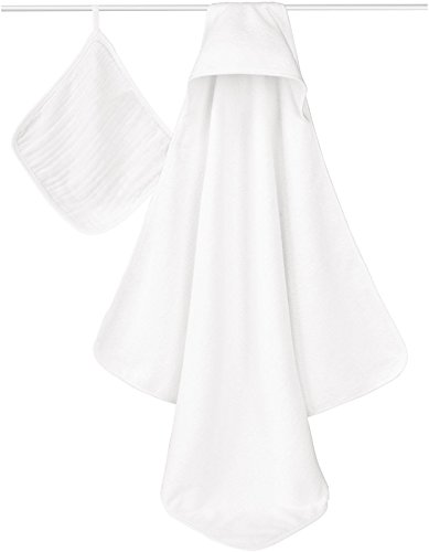aden + anais Classic Hooded Towel & Washcloth Set - Water Baby - 1
