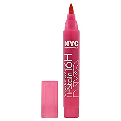 New York Color Smooch Proof Lip Stain, Persistent Pink, 0.1 Fluid Ounce