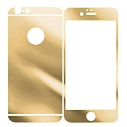 Dreams Mall Electroplating Mirror Effect Tempered Glass Screen Protector Film Decal Skin Sticker for Apple iPhone 6 Plus 5.5 inch-Gold