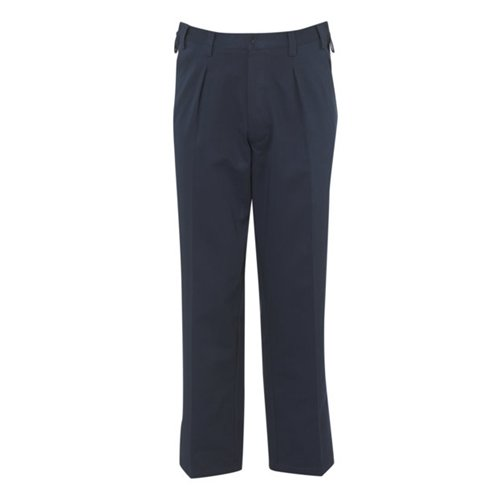 Disabled / Elderly Men's Chino Trousers with Side Zip Openings and Velcro Fly - 38 Regular - Navy