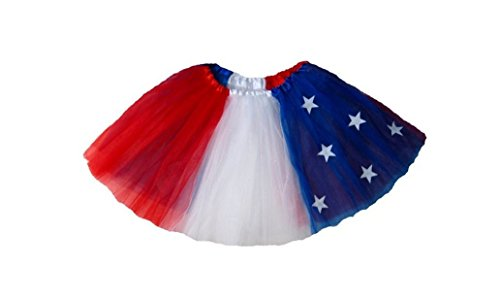 Rush Dance Patriotic Flag Ballerina Girls Dress-Up Princess Costume Recital Tutu (Kids (3-8 Years), Patriotic) (Dancing Shark Costume compare prices)