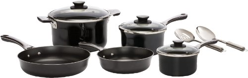 WearEver D921SA Authentic Hard Enamel Nonstick Cookware Set, 10-Piece, Black (Wearever Stainless Cookware Set compare prices)