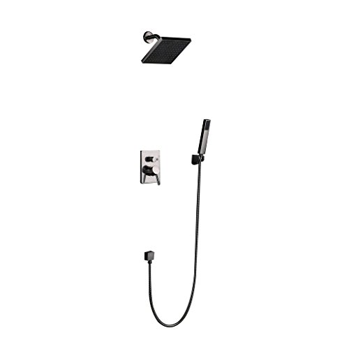 Shower-Kits-Nickel-Wall-Mounted-2-Function-Shower-Faucet-with-Handshower-and-8-inch-Rain-Shower