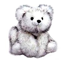 "Purr-Fection Baby Fresca White Bear 12"" Plush with Black Tips"