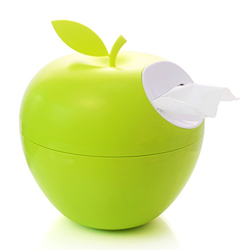 The Perfect Teacher Gift Cute Apple Tissue Box/holder, Toilet Paper Holder Dispenser for Your Home, Bathroom and Office. - Or Use As Piggy Bank for Your Little One!