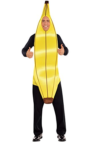 Amscan Adults Banana Fruit Fancy Dress Unisex Funny Food Party Costume
