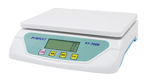 PURPLE 7 家庭用デジタルスケール 1g単位で、最大25kgまで計量可能 デジタル台はかり スケール 電子秤 風袋機能、オートオフ機能 日本語取扱説明書付き