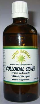 Colloidal Silver 100ml, 20ppm, Mineral Supplement
