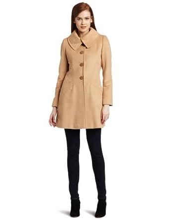 Via Spiga Women's Luca Wool Coat, Camel, 12