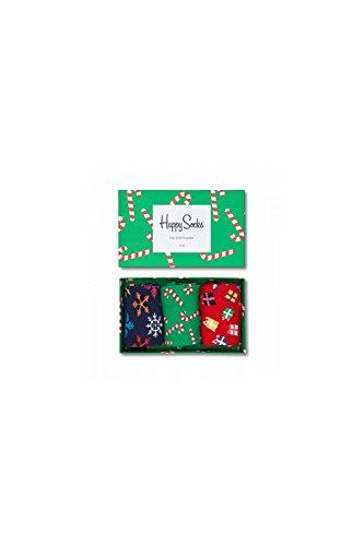 Happy Socks Holiday Gift Box, Calze Uomo, Turchese (Türkis 7000), Taglia Unica (Taglia Produttore: 41-46)