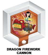 Disney Infinity Series 3 Power Disc Dragon Firework Cannon (from Mulan) - 1