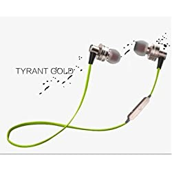 Awei A990BL Noise Isolation 4.0 Bluetooth Waterproof Sport Mic Earphone For iPhone 6S Plus Samsung - Gold