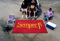 Outdoor Mat w United States Marines & Semper Fi