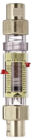 "Hedland H624-604 EZ-View Flowmeter With Sensor, Polysulfone, For Use With Water, 0.5 - 4 gpm Flow Range, 1/2"" NPT Female"