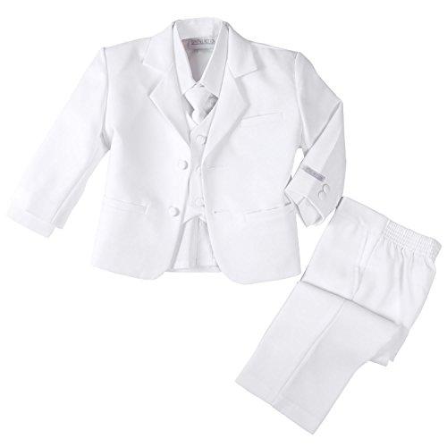Spring Notion Baby Boys' Formal White Dress Suit Set Medium / 6-12 Months