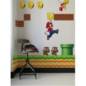 Official Nintendo New Super Mario Restik Wall Stickers