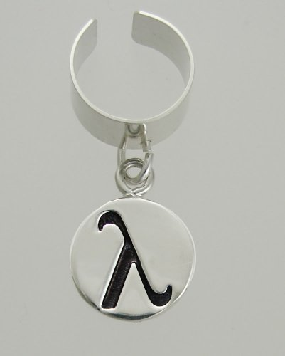 Lambda Symbol on an Ear Cuff in Sterling Silver