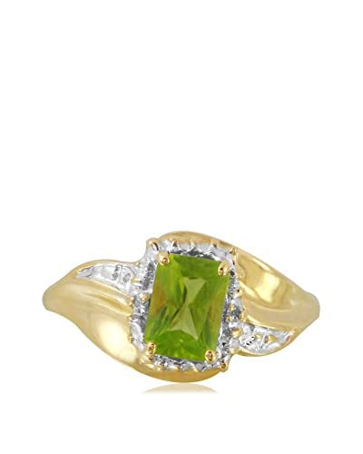 Fashion Strada 10K Gold Peridot & Diamond Freeform Ring