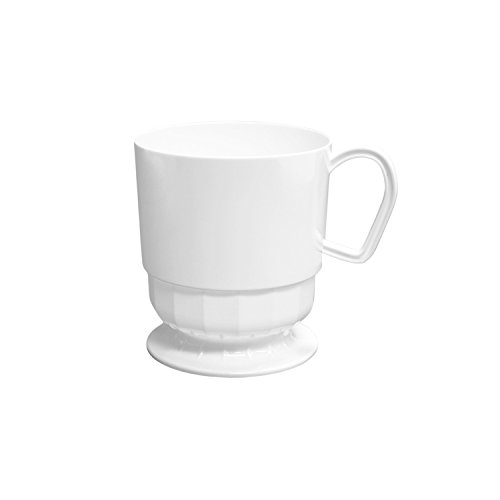 Party Essentials N425250 40 Count Deluxe/Elegance Coffee Cups, 8-Ounce, White