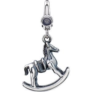 Sterling Silver Rocking Horse Charm: 20X15 mm