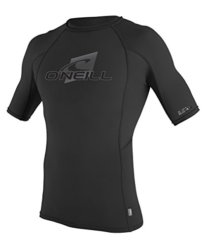 O'Neill Wetsuits UV Sun Protection Mens Skins Short Sleeve Crew Sun Shirt Rash Guard, Black/Black/Black, XX-Large (Wet Shirt compare prices)