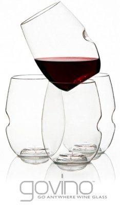 govino Shatterproof Stemless Wine Glasses - 12 Pack