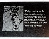 5x7 Pet Memorial Laser Engraved..Lowest Price On the Internet