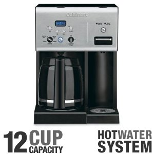 Cuisinart 12 Cup Fully Automatic Programmable Coffeemaker with Hot Water System Features a 24-Hour Timer and Brew and Pause Option with Carafe Temperature Control, Charcoal Gold Tone Water Filter, with Removable Drip Tray