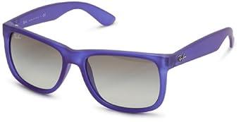 (超值)Ray-Ban 雷朋55MM太阳镜天蓝色0RB4165 Rectangular Sunglasses $71.54