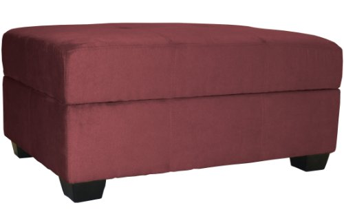 Epic Furnishings 36 By 24 By 18-Inch Storage Ottoman Bench, Wine Red front-602950