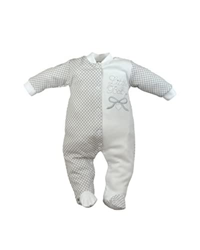 LOLA BABY Strampelanzug weiß/grau