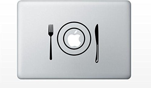 Macbook Fork Plate Knife Decal Sticker Pro Air 11 13 15 17