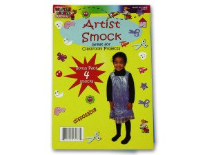 Disposable children's artist smock - Case of 24