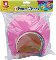 Fibre Craft Foam Visors 6/Pkg Bright Colors 42872-01; 3 Items/Order