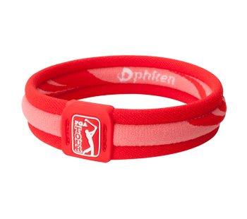 New Phiten PGA Tour X30 6.75 Inch Red Titanium Bracelet