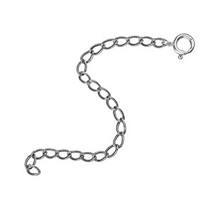 Carolyn Pollack Genuine .925 Sterling Silver Textured Extender Chain