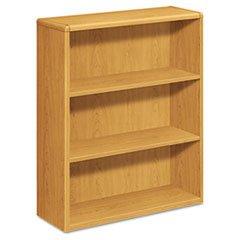-- 10700 Series Bookcase, 3 Shelves, 36w x 13-1/8d x 43-3/8h, Harvest