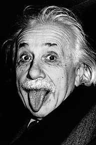 Albert Einstein, Funny Face, Art Poster [Kitchen]