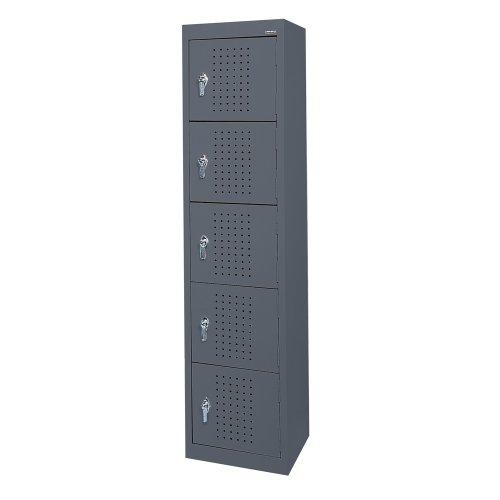 Sandusky LF55151866 22 Gauge Welded Steel Five Tier Storage Locker, 15